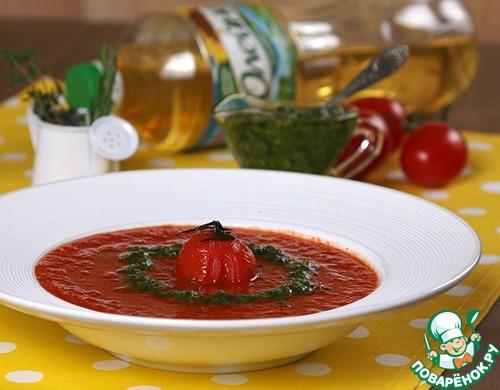 Суп из печеных томатов с песто рецепт с фотографиями пошагово #7