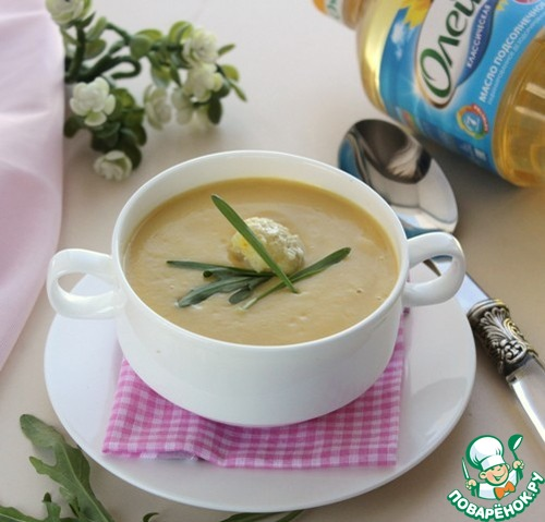 рецепт суп пюре из цветной капусты с курицей рецепт с фото