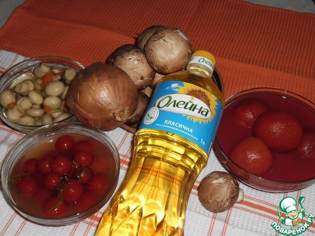 Как готовить Грибы с томатами рецепт с фото #1