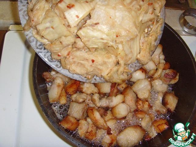 Готовим Свинина, жаренная с чимчи домашний пошаговый рецепт с фотографиями #5