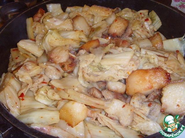Готовим Свинина, жаренная с чимчи домашний пошаговый рецепт с фотографиями #6