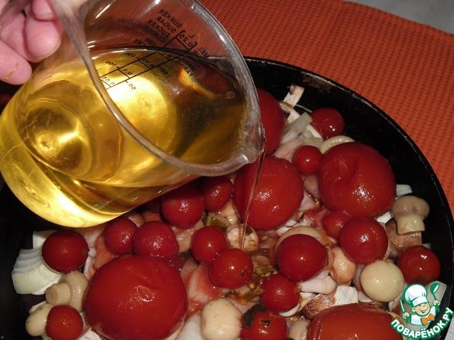 Как готовить Грибы с томатами рецепт с фото #4