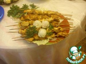 Рецепт Шашлычки куриные на шпажках