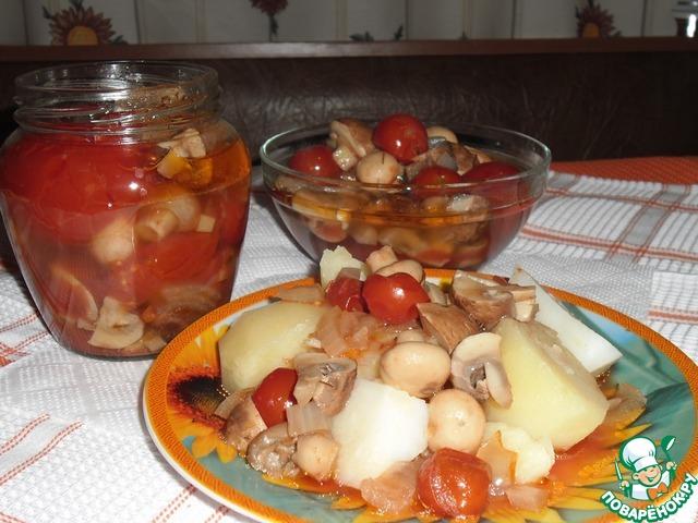 Как готовить Грибы с томатами рецепт с фото #6