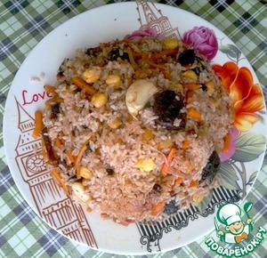 Рецепт Постный плов с черносливом и горохом нут