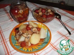 Как приготовить Грибы с томатами домашний рецепт с фото пошагово