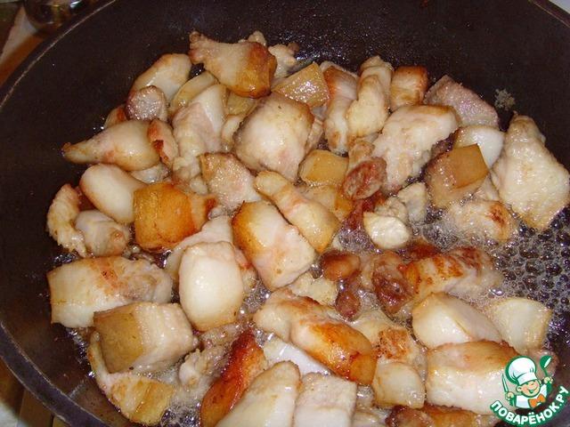 Готовим Свинина, жаренная с чимчи домашний пошаговый рецепт с фотографиями #4