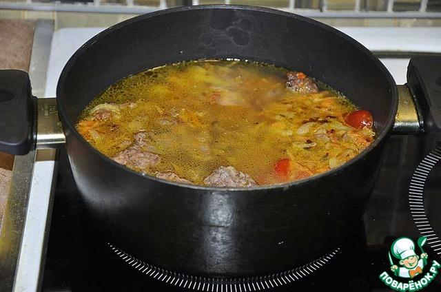 Как приготовить вкусный рецепт приготовления с фото Говядина тушёная в горшке #3