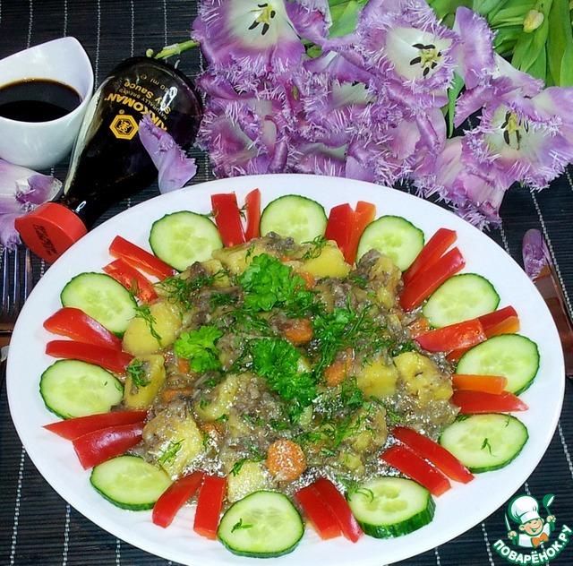 Готовим Грибы с картофелем в мультиварке простой рецепт с фотографиями пошагово #9