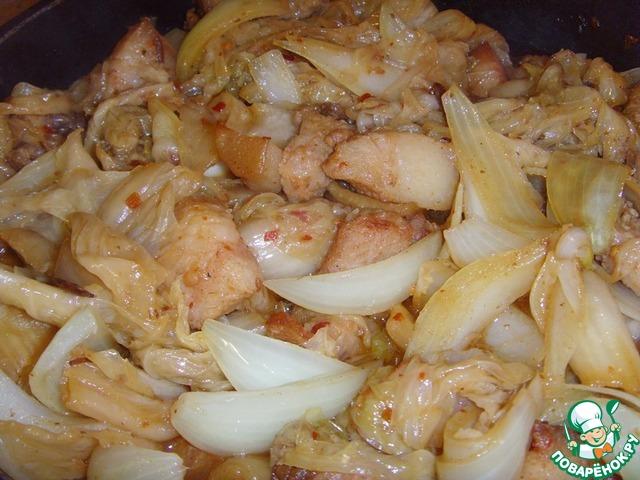 Готовим Свинина, жаренная с чимчи домашний пошаговый рецепт с фотографиями #10