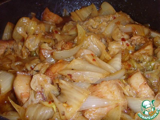 Готовим Свинина, жаренная с чимчи домашний пошаговый рецепт с фотографиями #11