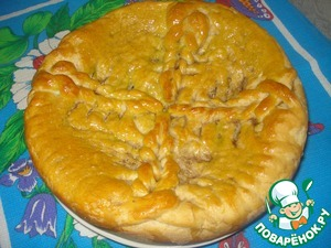Рецепт Пирог с квашеной капустой и грибами