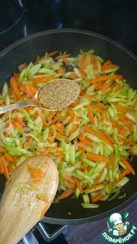 Как готовить Гречка с кабачком домашний рецепт приготовления с фото #3