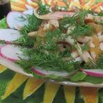 Кольца кальмара с соевым соусом