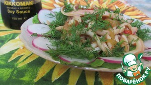 Рецепт Кольца кальмара с соевым соусом