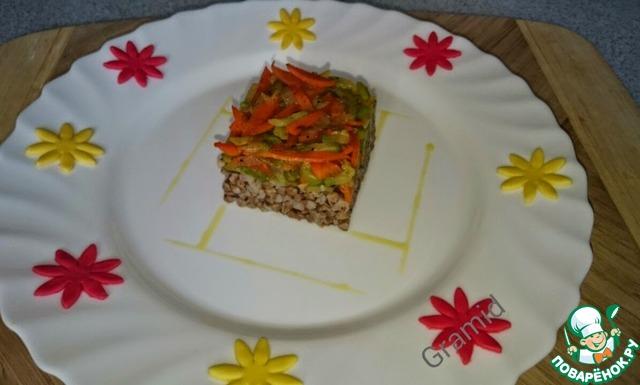 Как готовить Гречка с кабачком домашний рецепт приготовления с фото #5