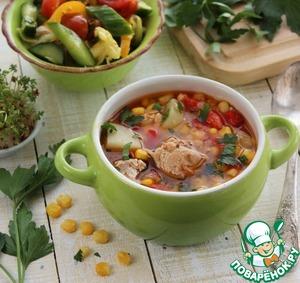 Рецепт Суп из тунца с овощами