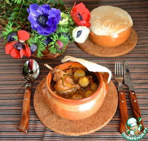 Кролик в горшочке домашний рецепт с фото пошагово #12