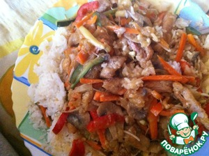 Рецепт Курица в кокосовом молоке с рисом