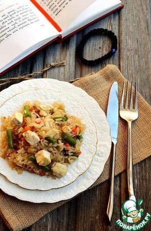 Рецепт Жареный рис с овощами и соевым сыром