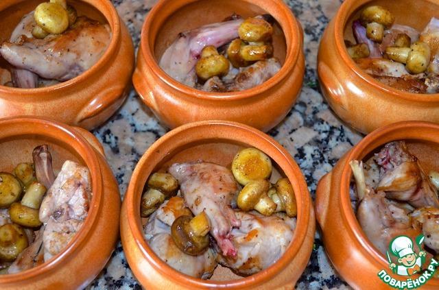 Кролик в горшочке домашний рецепт с фото пошагово #7