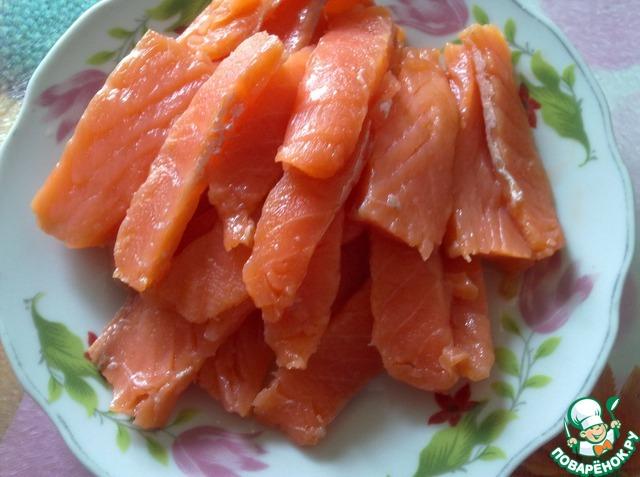 Как готовить Закуска из морской капусты с форелью рецепт с фото пошагово #3