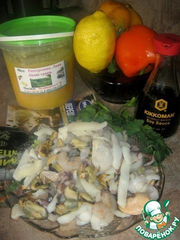 """Закуска """"Коктейль глубин"""" домашний рецепт приготовления с фотографиями пошагово #1"""