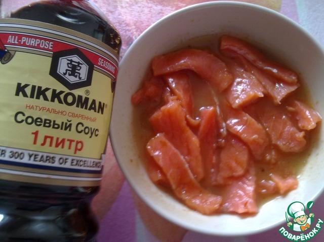Как готовить Закуска из морской капусты с форелью рецепт с фото пошагово #4