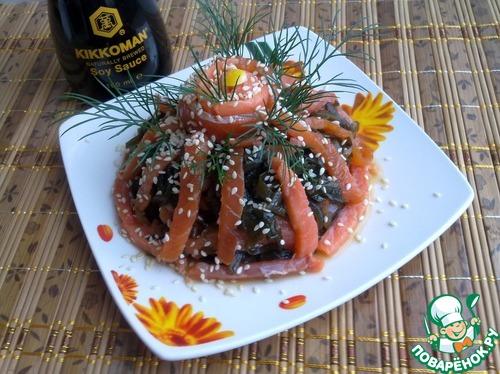 Как готовить Закуска из морской капусты с форелью рецепт с фото пошагово #9