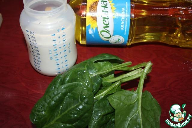 Кабачки-завитушки на шпинатной подушке простой рецепт с фото пошагово #2