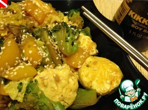 Соте из тофу и овощей простой пошаговый рецепт с фото готовим