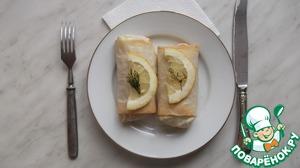 Рецепт Конвертики из теста фило с рисом и рыбой