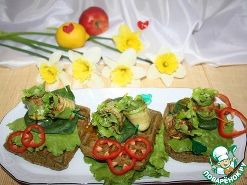 Кабачки-завитушки на шпинатной подушке простой рецепт с фото пошагово #9