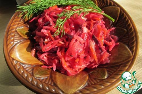 Русский салат на корейский лад вкусный рецепт с фото пошагово как приготовить #12