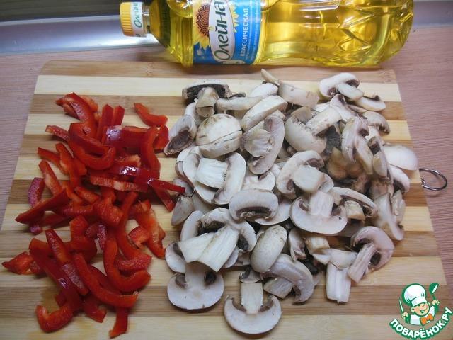 Закуска из шампиньонов с болгарским перцем рецепт с фото готовим #2