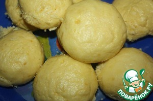 Рецепт Кукурузные паровые булочки со сгущенным молоком