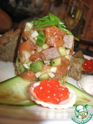 Рецепт Тартар из лосося с огурцом