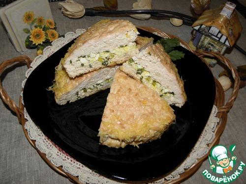 Куриный пирог-запеканка рецепт с фото пошагово #11
