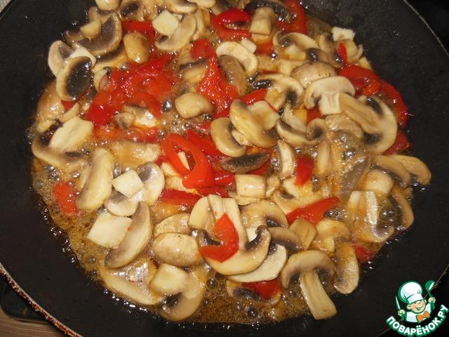 Закуска из шампиньонов с болгарским перцем рецепт с фото готовим #5