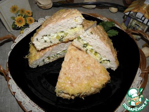 Куриный пирог-запеканка рецепт с фото пошагово #12