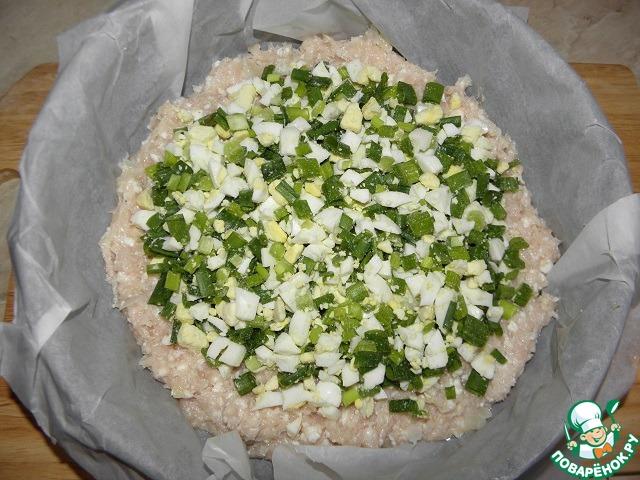 Куриный пирог-запеканка рецепт с фото пошагово #7
