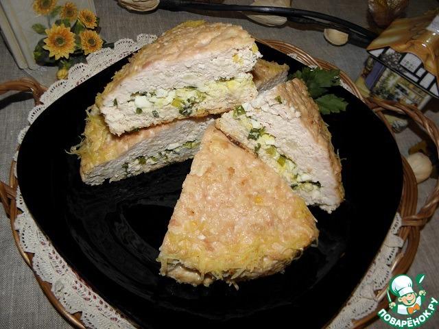 Куриный пирог-запеканка рецепт с фото пошагово #9