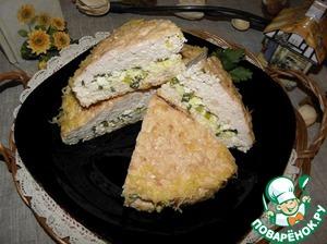 Куриный пирог-запеканка рецепт с фото пошагово