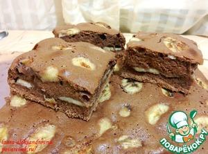 Рецепт Шоколадный кекс с бананами