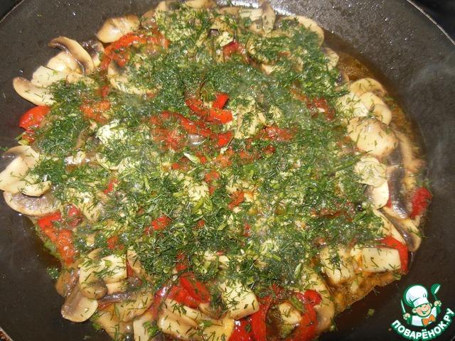 Закуска из шампиньонов с болгарским перцем рецепт с фото готовим #6