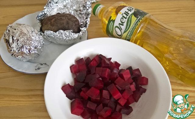 Салат из запеченной свеклы с брынзой простой рецепт с фото пошагово как приготовить #1