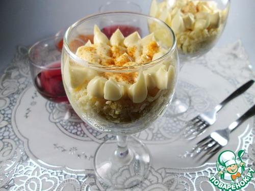 Готовим Салат с пшеном, курицей и яблоками вкусный пошаговый рецепт с фото #8