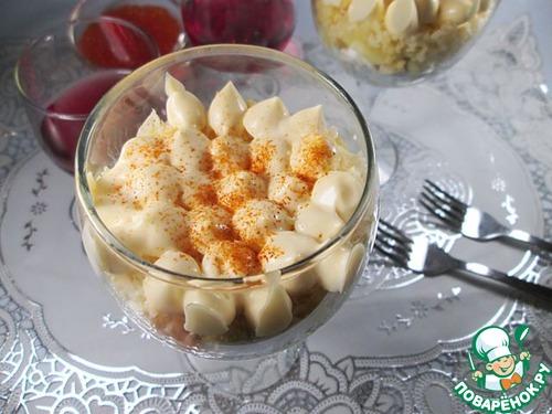 Готовим Салат с пшеном, курицей и яблоками вкусный пошаговый рецепт с фото #9