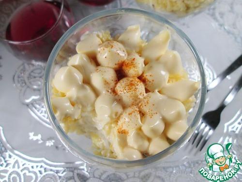 Готовим Салат с пшеном, курицей и яблоками вкусный пошаговый рецепт с фото #10