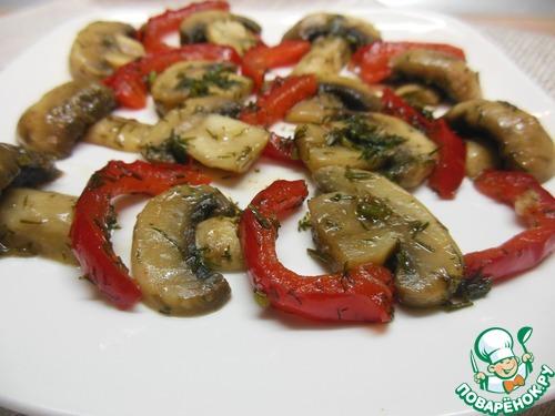Закуска из шампиньонов с болгарским перцем рецепт с фото готовим #11